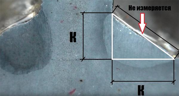 Как определить катет сварного шва?
