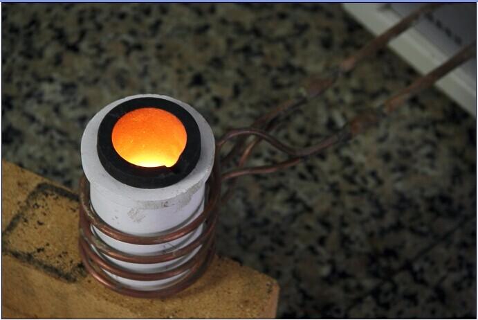 Тигель для плавки свинца (механический и электрический клапан)