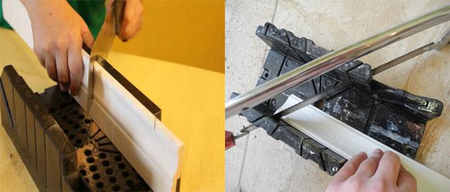Как правильно резать потолочный плинтус в углах с помощью стусла?