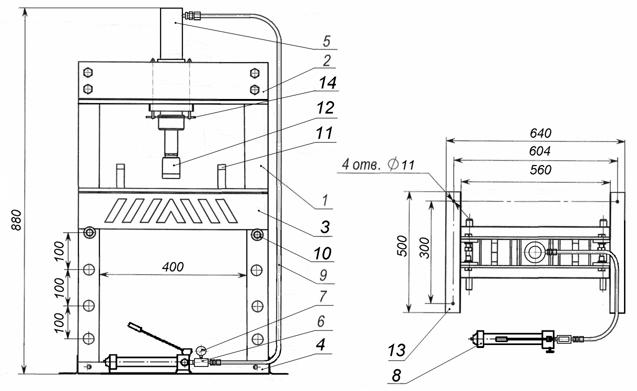 Гидравлический пресс из домкрата своими руками – как сделать, чертежи, варианты изготовления
