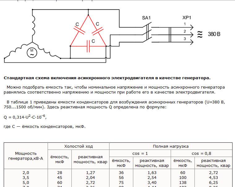 Как правильно подобрать и рассчитать емкость конденсатора на трехфазный двигатель
