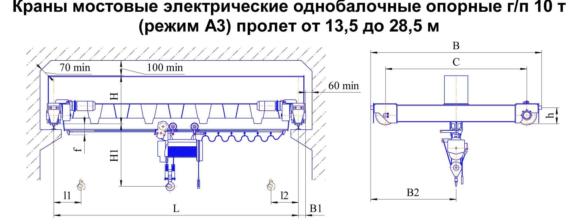 Устройство и классификация мостовых кранов. мостовой кран устройство