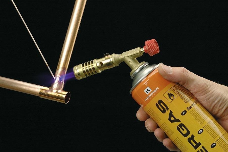 Горелка для пайки медных труб: газовые, с твердым припоем и флюсом