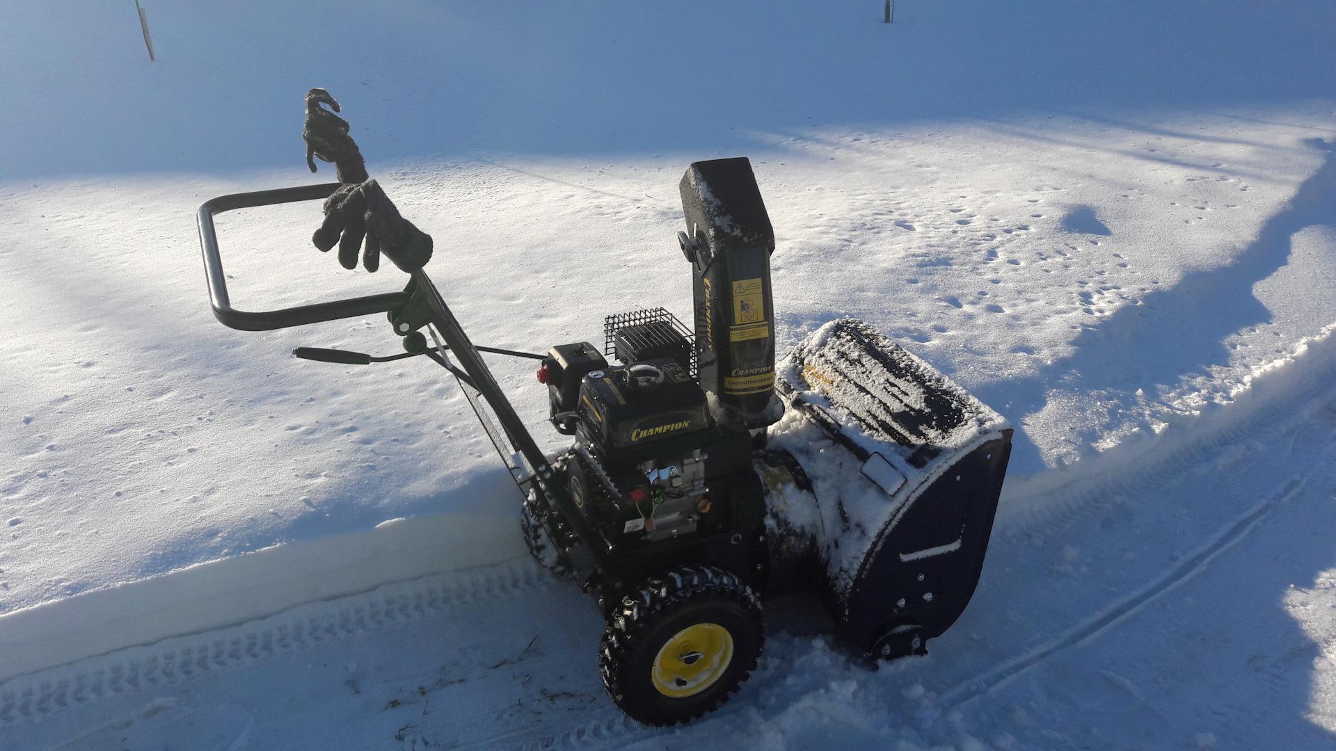 Навесное оборудование для снегоуборщиков champion