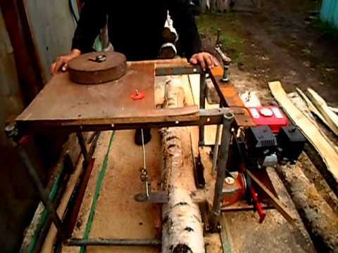 Изготовление пилорамы из бензопилы своими руками