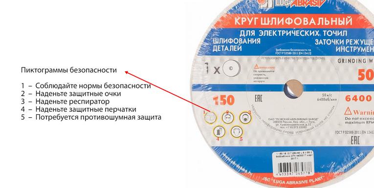 Маркировка шлифовальных кругов – подробно о характеристиках!