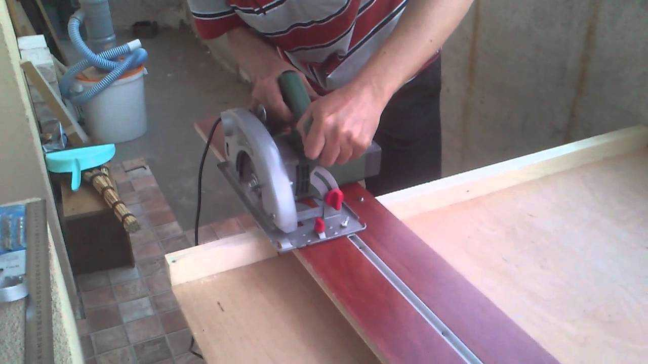 Направляющая шина для циркулярной пилы своими руками