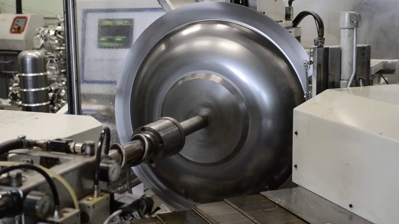 Установка для ротационной вытяжки тонкостенных оболочек на токарном станке