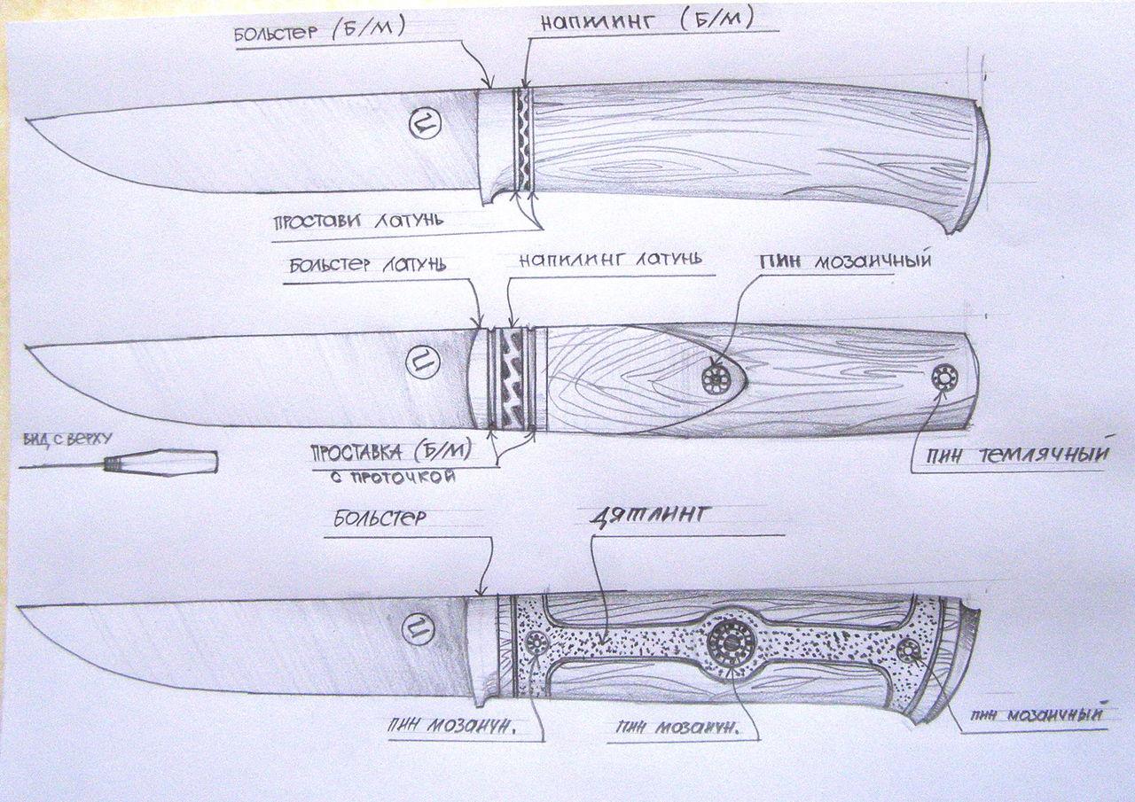 Ручка для ножа своими руками: пошаговая инструкция изготовления