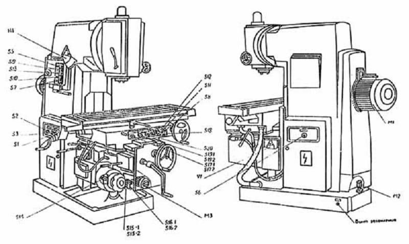 Вм127 – важнейшие технические параметры фрезерного станка + видео