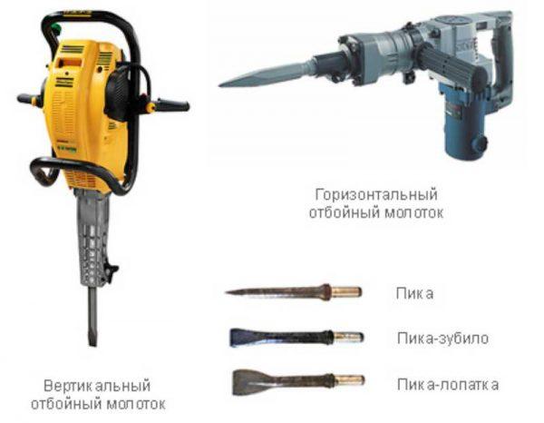 Бензиновый отбойный молоток: обзор моделей, устройство, характеристики