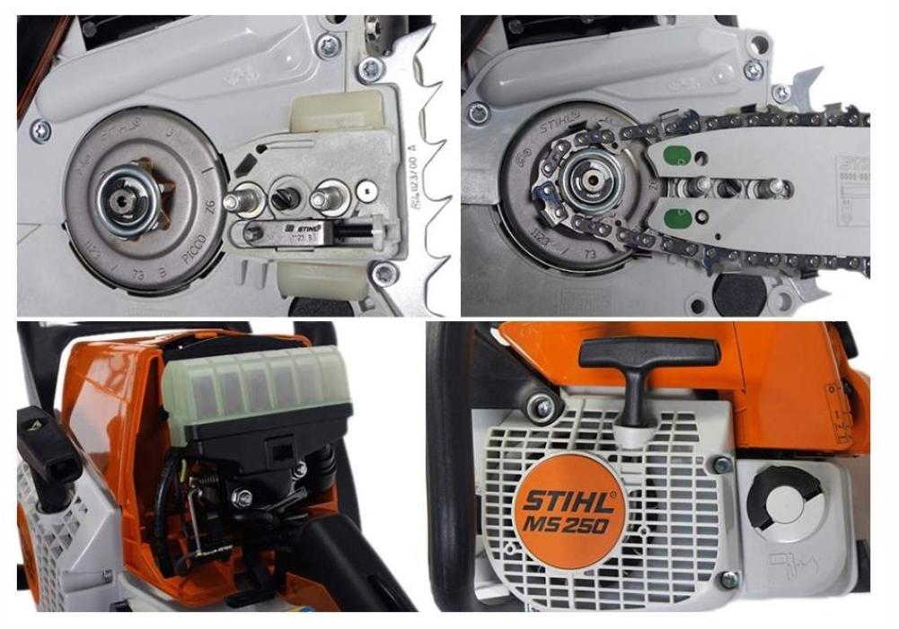 Цепная бензопила stihl 250 ms. характеристики, эксплуатация и обслуживание