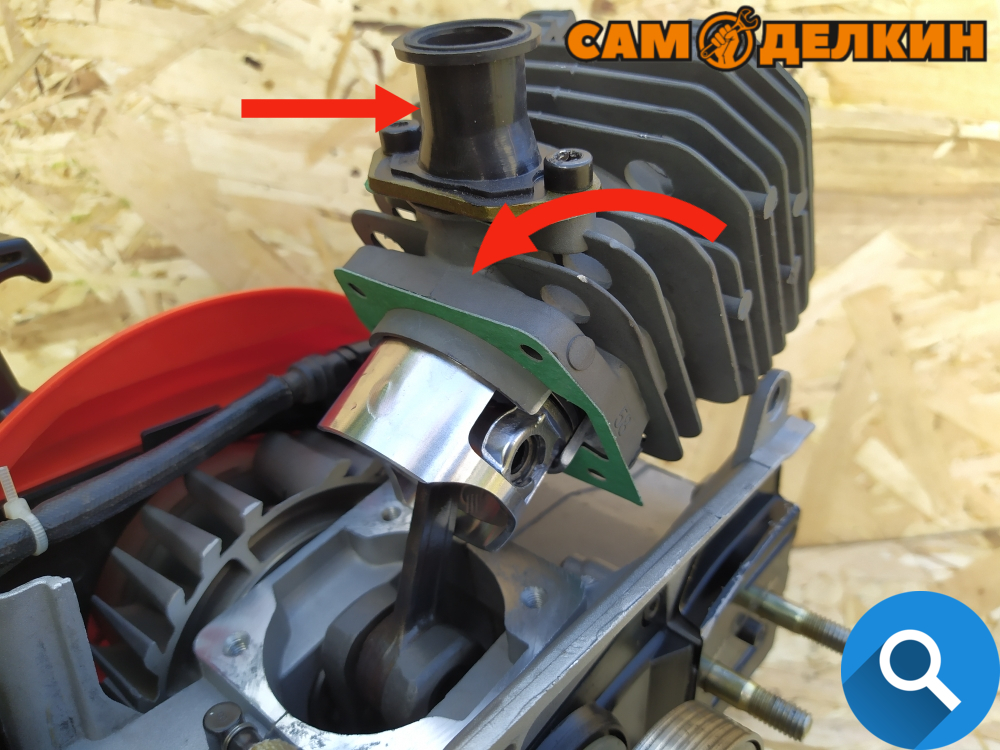 Как вставить поршень в цилиндр на бензопиле