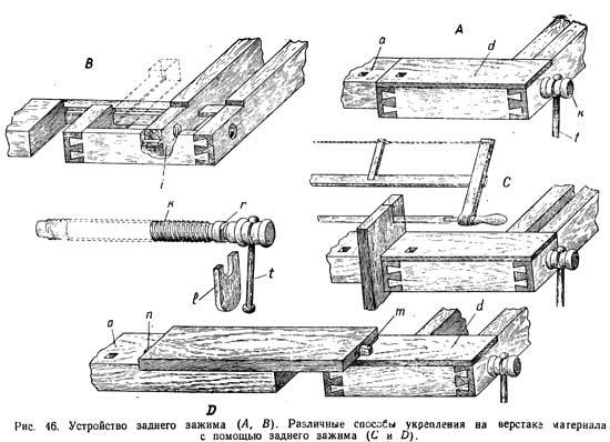 Верстак своими руками: столярный, универсал, слесарный -  конструкция, чертежи, изготовление