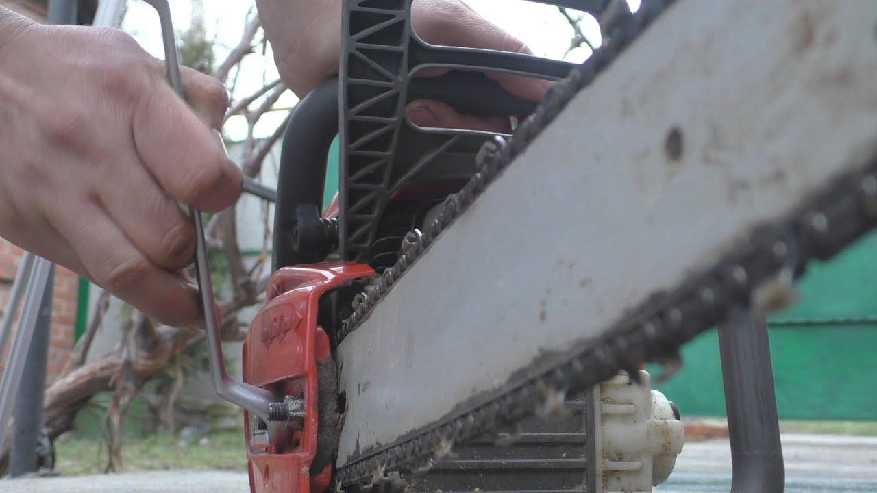 Установка цепи на бензопилу: советы и нюансы, видео