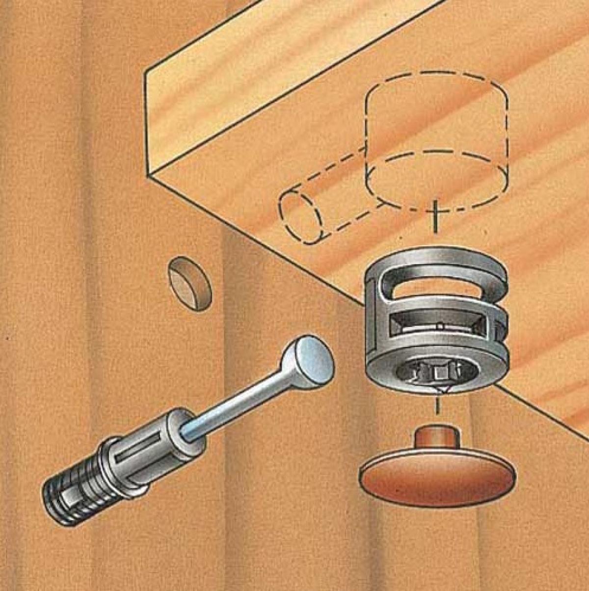Мебельные эксцентриковые стяжки: плюсы и минусы крепежа, разновидности