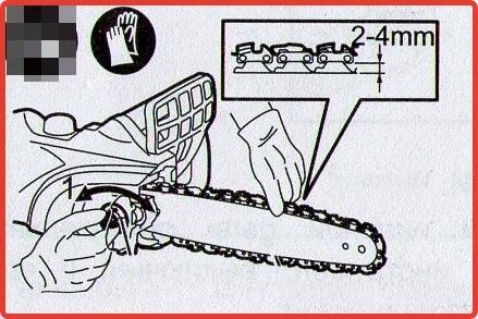 Как правильно натянуть цепь на бензопиле