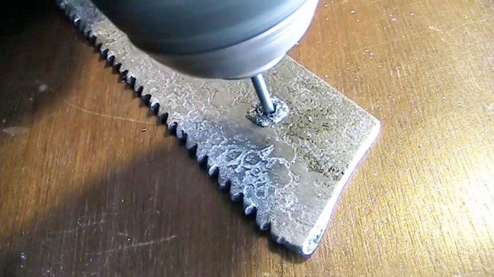 [лайфхак] сверлим каленую сталь самодельным сверлом