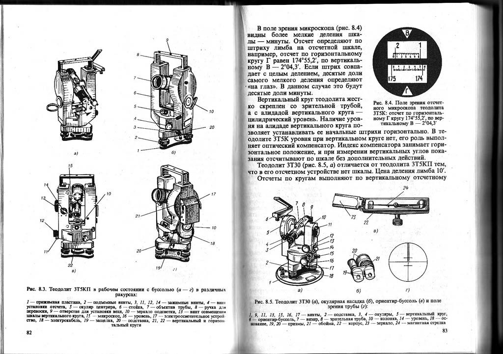 Теодолит: поверки, устройство, измерение, назначение и работа - токарь