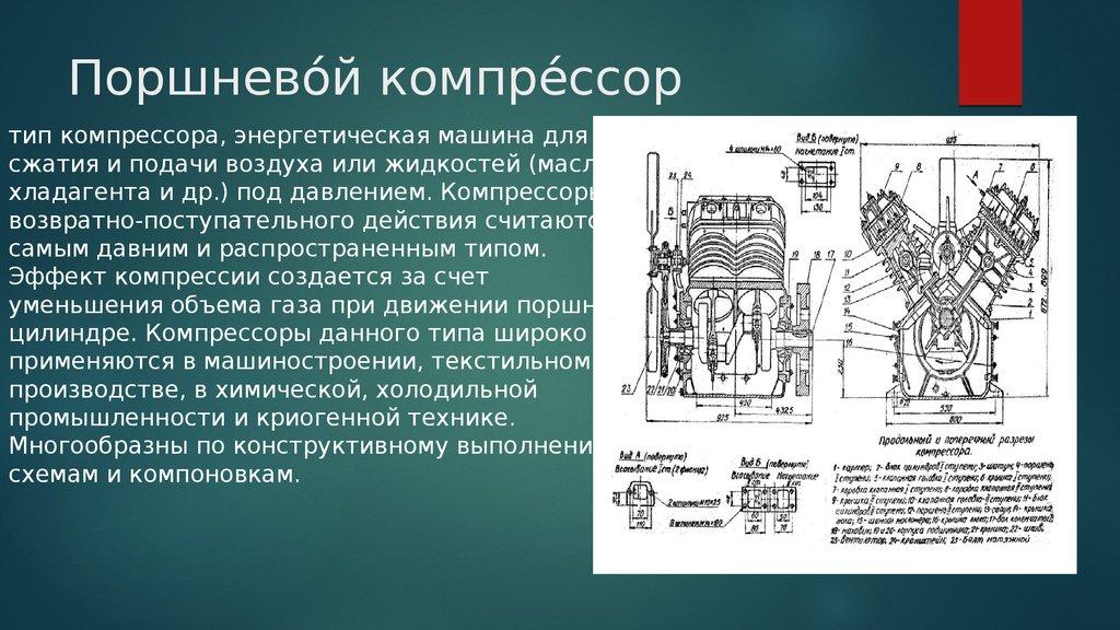 Компрессор. назначение, виды, характеристики и их особенности