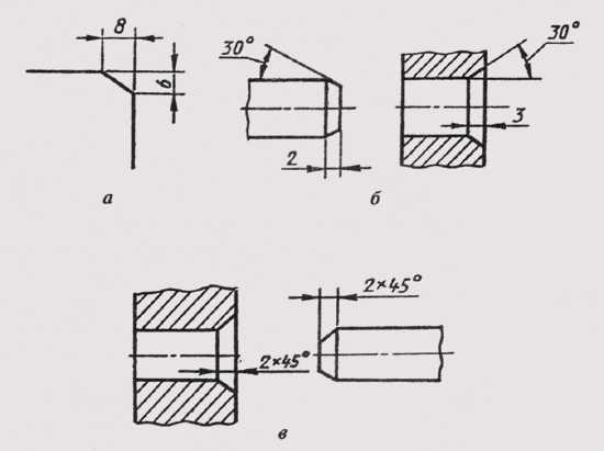 Фаска: способы изготовления, обозначение на чертежах, классификация - токарь