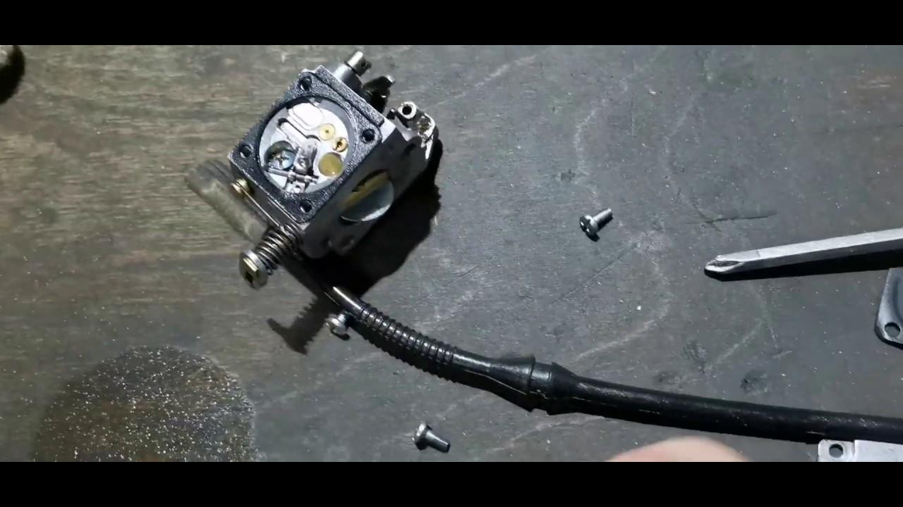 Почему глохнет бензопила на холостых оборотах - морской флот