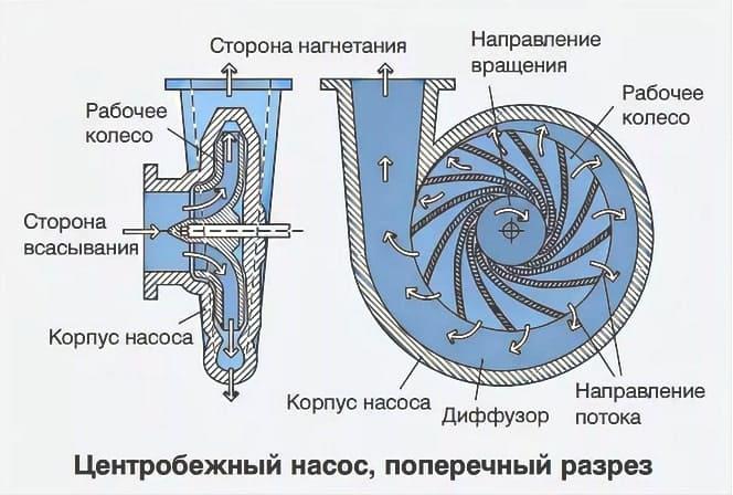 Центробежный насос для воды – описание, работа, преимущества