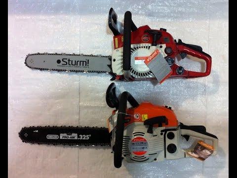 Бензопилы sturm: обзор модельного ряда, отзывы