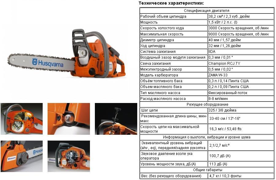 Обзор полупрофессиональной бензопилы Хускварна 450 (Husqvarna 450e)