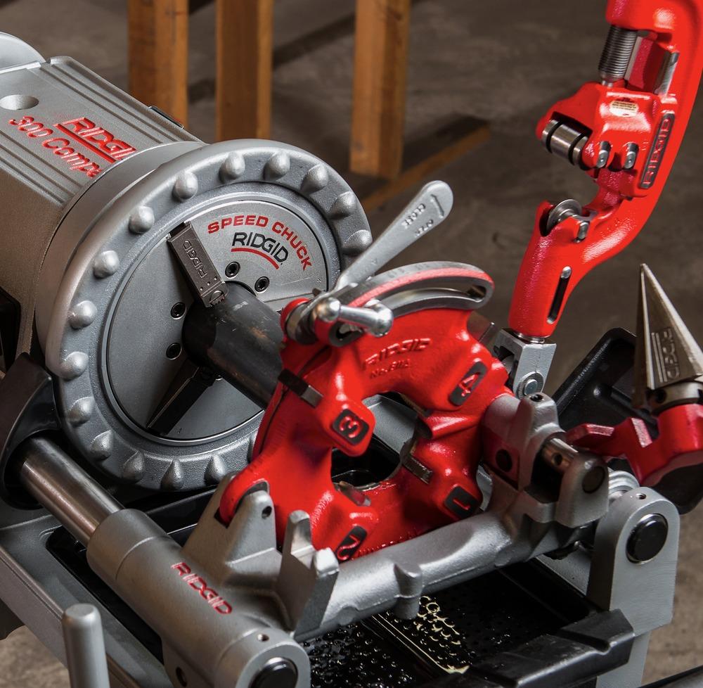 Резьбонарезной станок модели 300 compact | ridgid tools