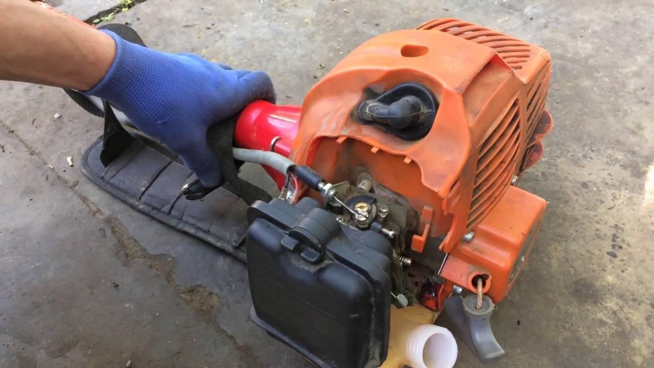 Почему глохнет двигатель бензопилы при нажатии на газ