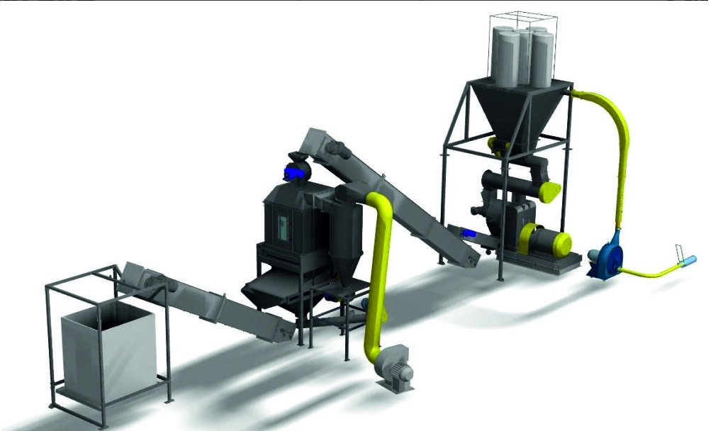 Оборудование для производства пеллет из опилок и соломы