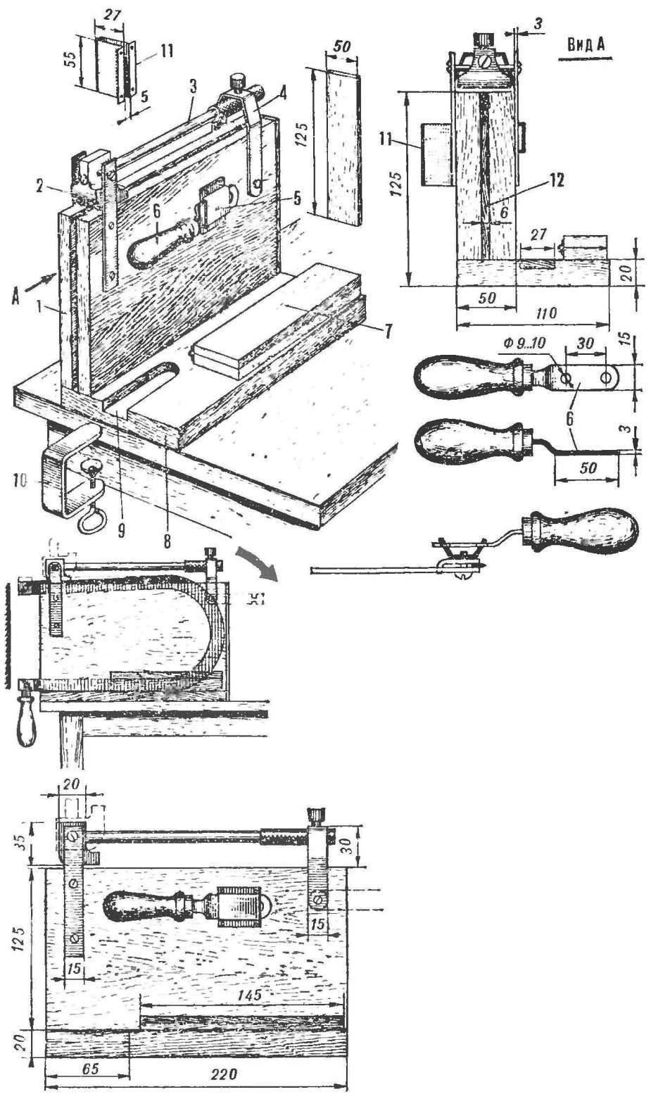 Самодельный лобзиковый станок из старого электролобзика