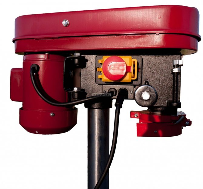 Сверлильный станок зубр безопасный выключатель, 5 скоростей, патрон 13 мм, 350вт зсс-350