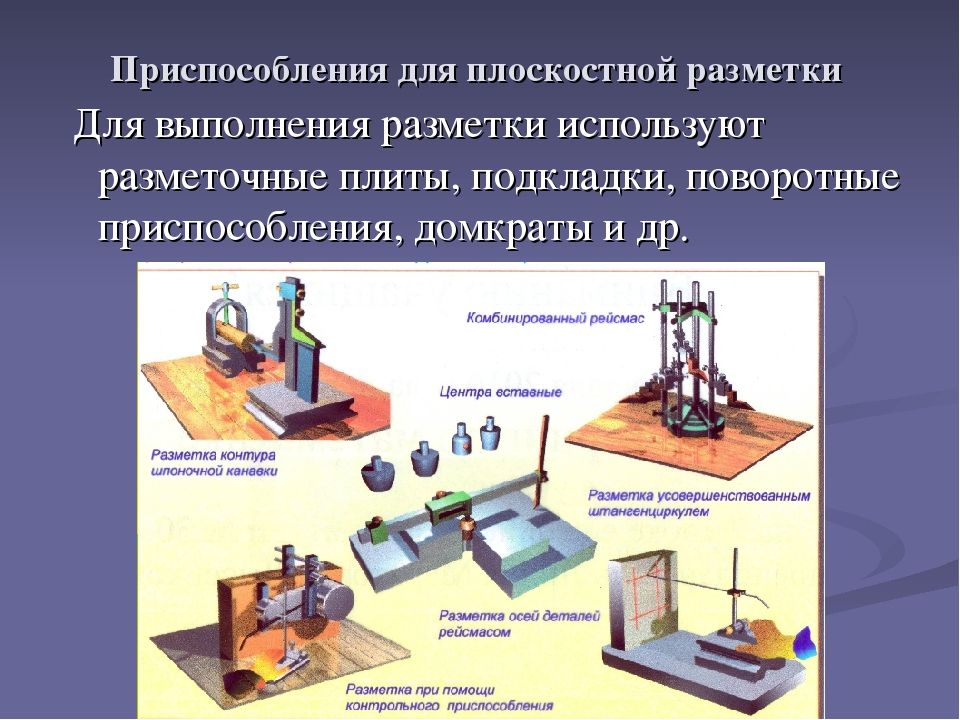§ 3. приемы и последовательность разметки