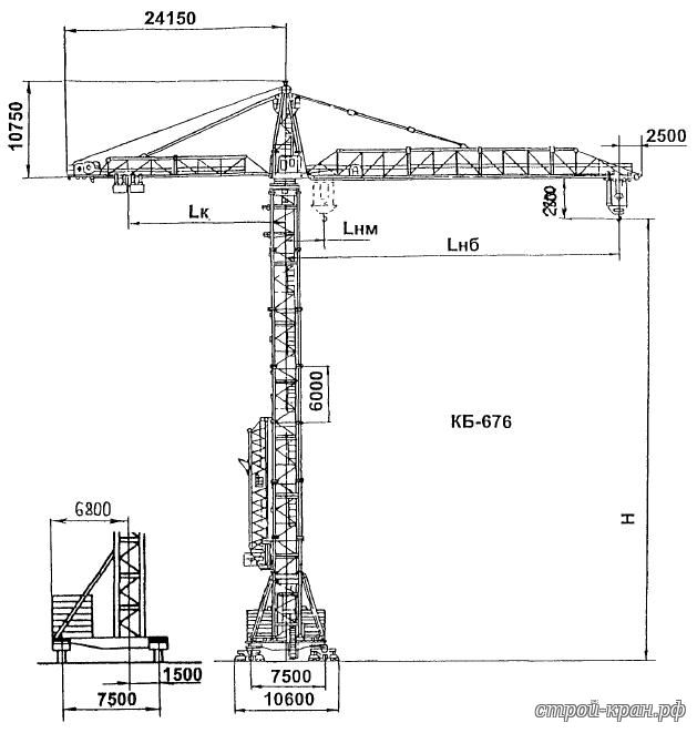 Кб-403 башенный кран