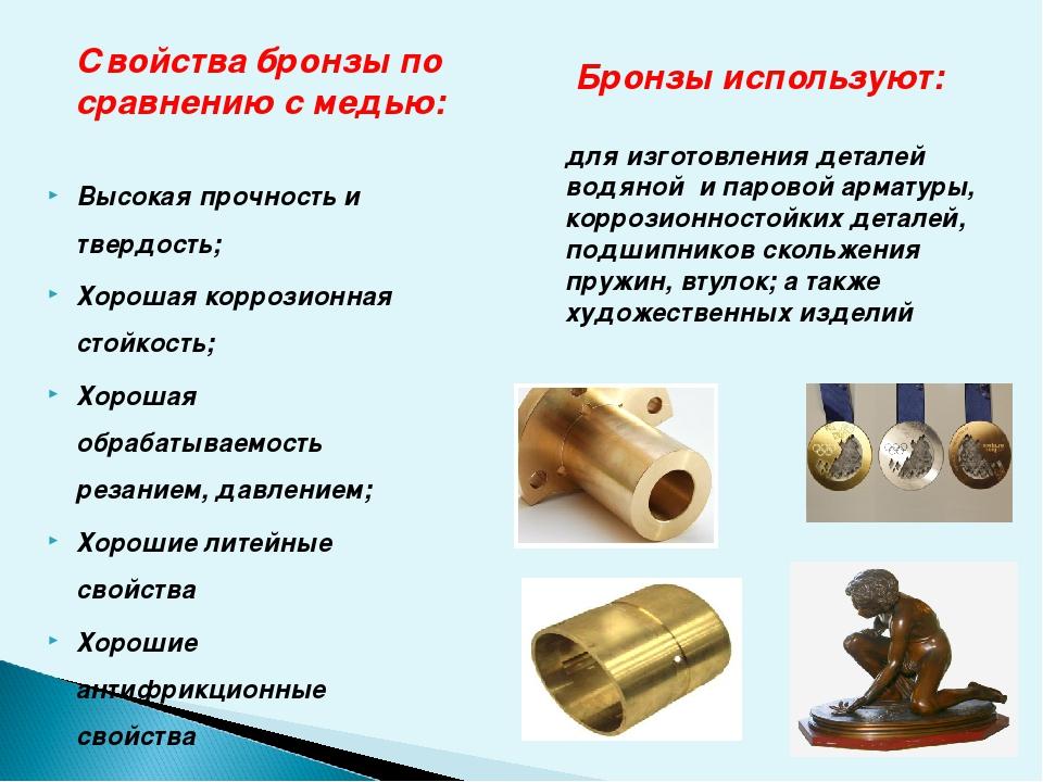 Марки бронз и их использование | всё о цветных металлах и сплавах (бронза, медь, латунь и др)