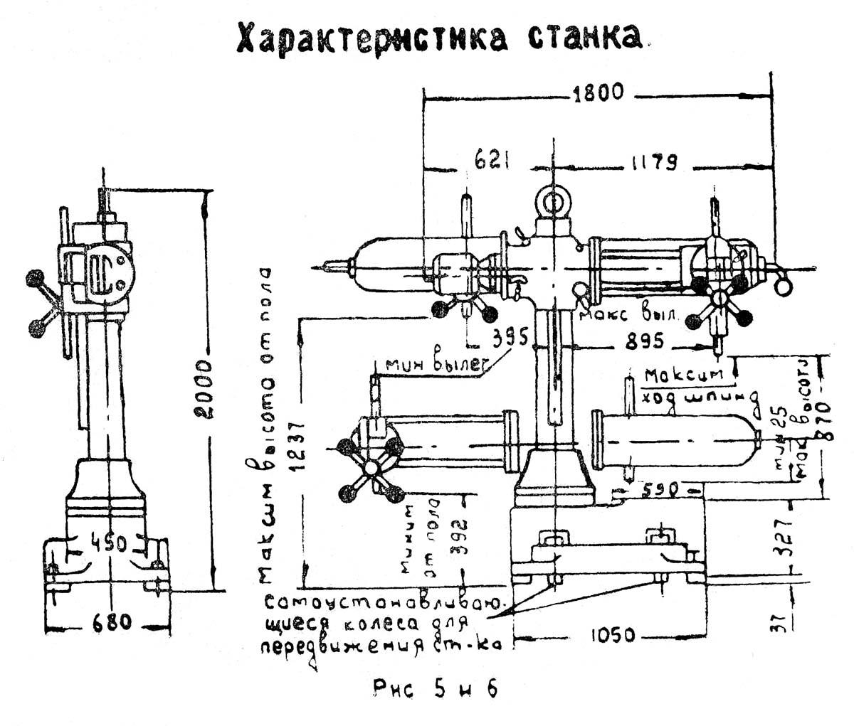 Обзор сверлильного станка радиального типа 2м55