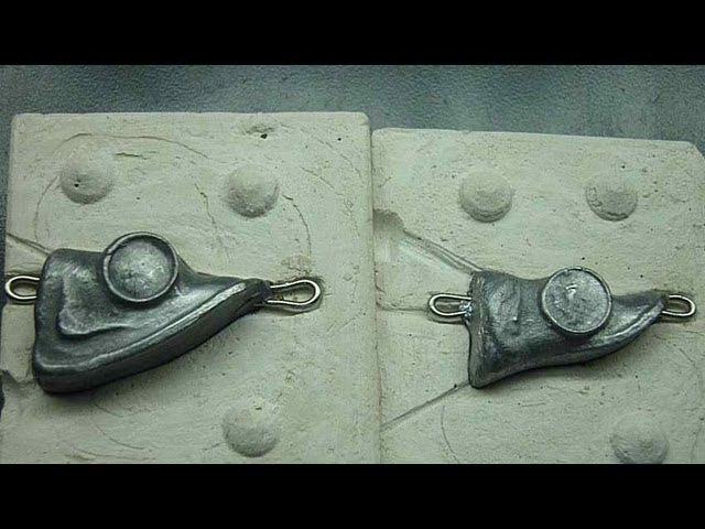 Грузило из свинца: форма для литья, как сделать