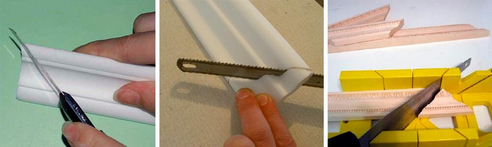 Как резать потолочные плинтуса – инструменты и правила резки