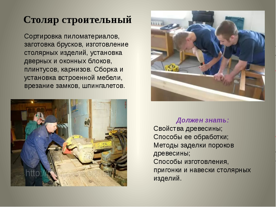 Должностная инструкция плотника в строительстве, на предприятии :: syl.ru