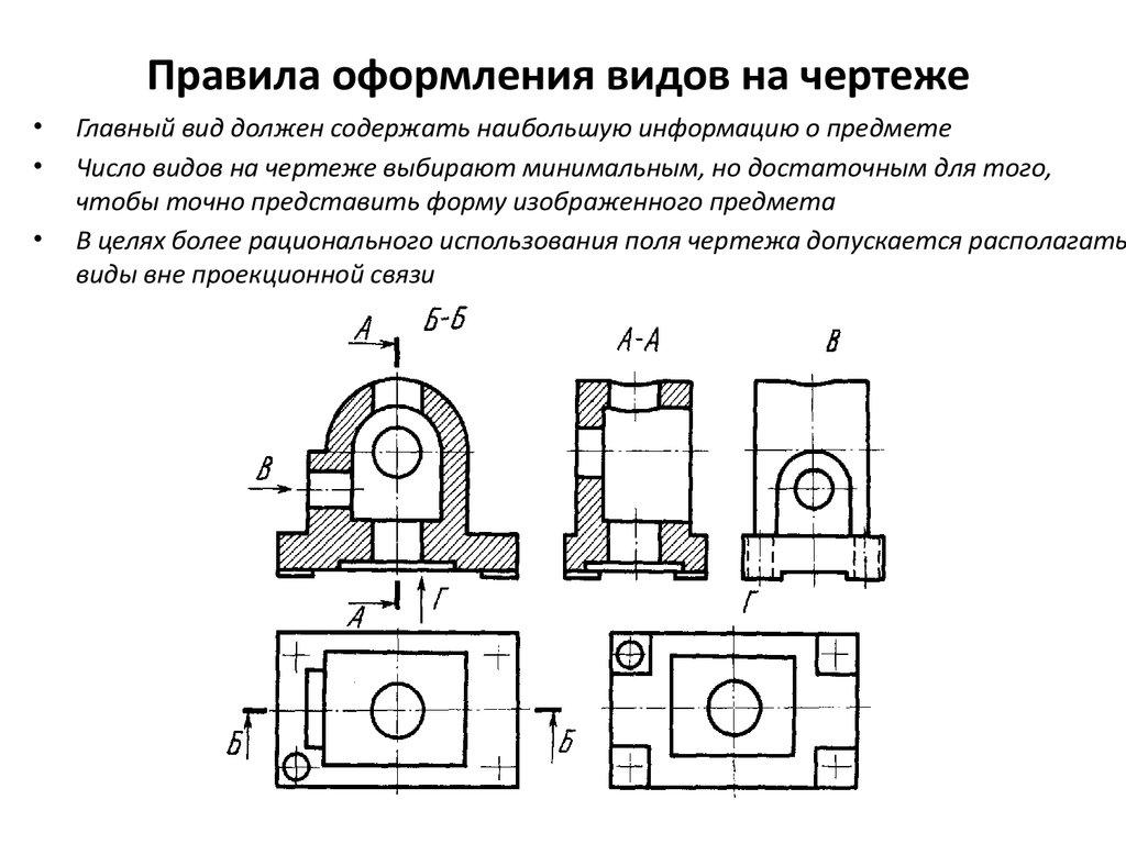 Виды. машиностроительное черчение. инженерная графика. чекмарев
