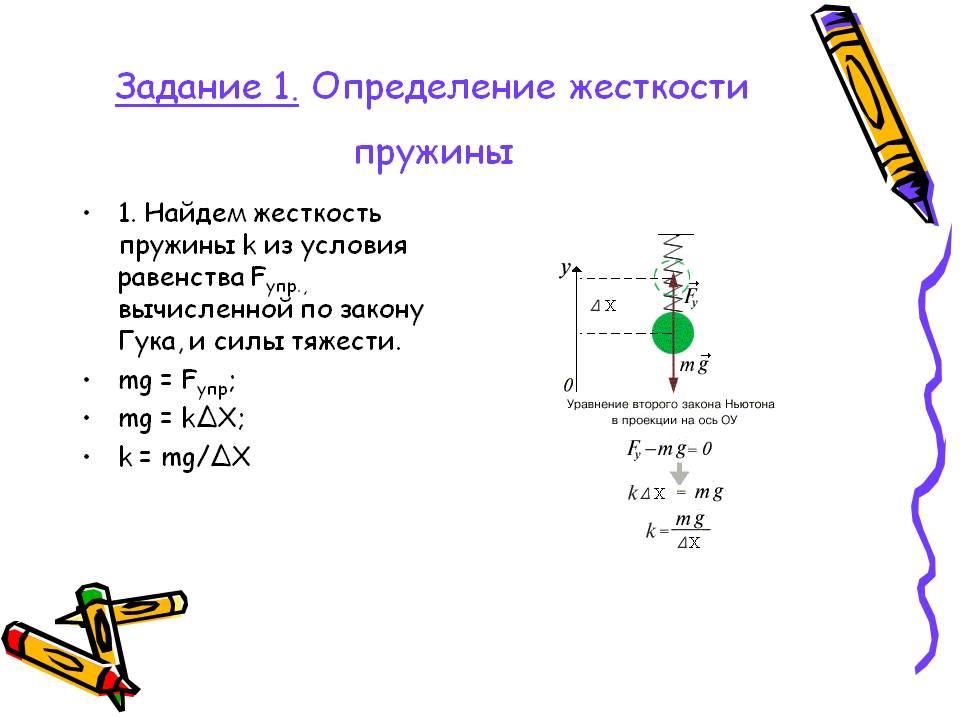 Как определить растяжение пружины формула - морской флот