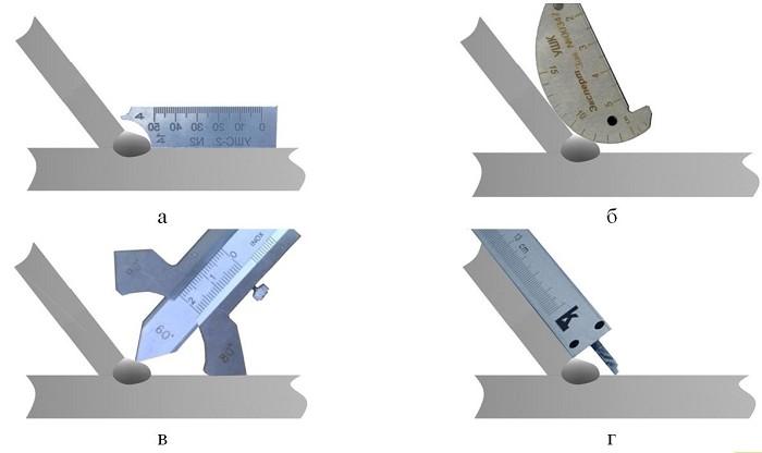 Размеры катета при сварке труб