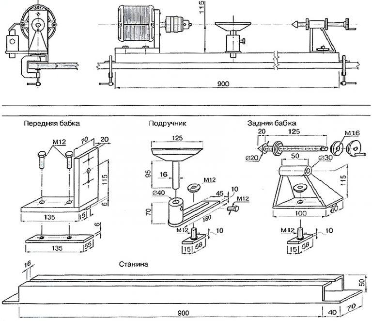 Токарный станок для обработки дерева своими руками – надежный и простой