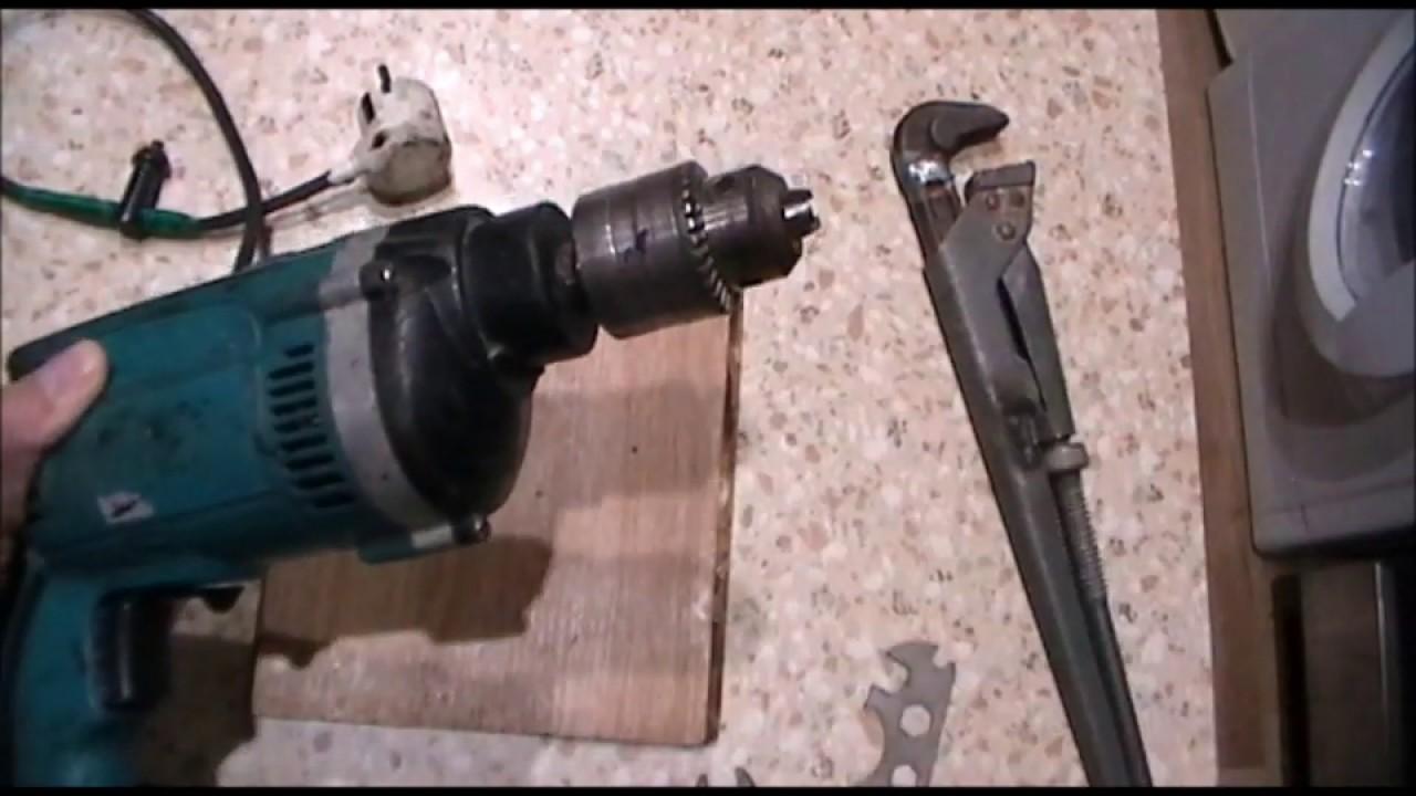 Как открутить патрон на шуруповёрте